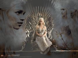 Daenerys Targaryen_ Game of thrones wallpaper2 by DarkElektra