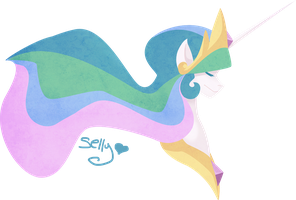 Princess Celestia by Sellyinwonderland