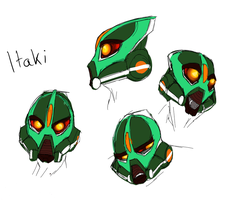 Itaki Head sketches by encune