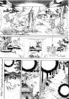 a manga page with background by quybaba