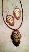 Little Barn Owls by TrollGirl