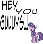 twilight's word to yo' bronies by hattonslayden