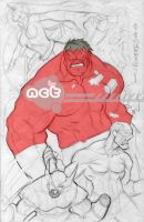 RED HULK by nctorres