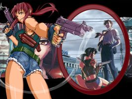 Rock and Revy Wallpaper 8 by weissdrum