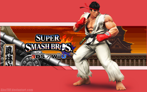 Ryu Wallpaper - Super Smash Bros. Wii U/3DS by AlexTHF
