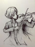 Sherlock and his violin by Sherlocka
