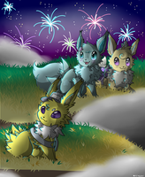 {CE} Fireworks! by Blue-Flygon