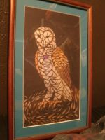 Faux Stained Glass Owl by Crimsonbluewolf