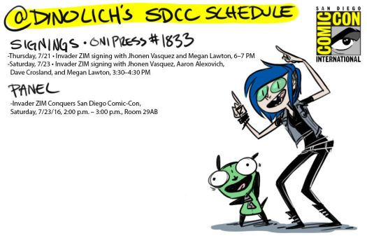 SDCC Appearances by DIN0LICH