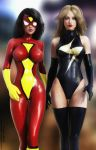 Spider Woman and Ms Marvel by tiangtam