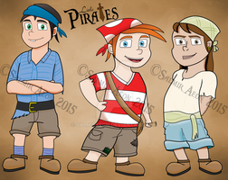 Uni Project - Little Pirates: Final Designs by SalmirAeon
