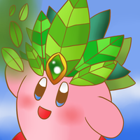 Kirby Tuesday-Leaf Kirby by thegamingdrawer