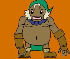 Zelda project: Goron Link reference by TheSugarEater