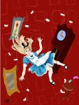 Alice falling down the rabbit hole by kittyness21