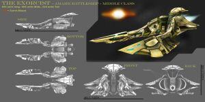 The Exorcist-Amarr Battleship by alj0708