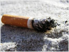 Cigarette in the sand by DTrox