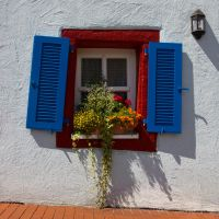 Crooked Colorful Window by DeviantTeddine