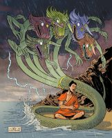 The many dragons of Buddha by mistertheriault