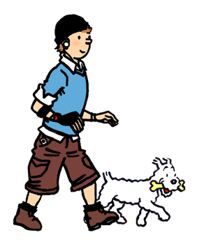 Tintin and the early 2000's by Xag