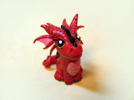 Strawberry the Dragon by DragonsAndBeasties