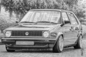 VW Golf GTl by toniart57