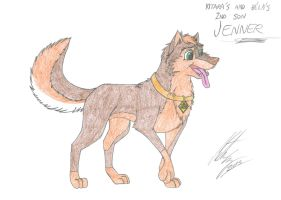 Kitara the wolfhound - Jenner as adult by MortenEng21