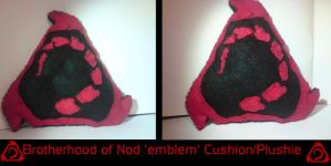 Nod plushie-cushion by HarusameKitteh