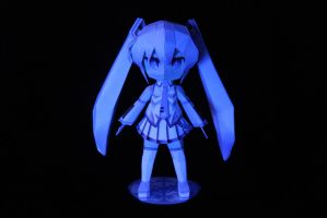 Snow Miku Papercraft Glows by DemonBa55Player