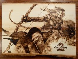 Guild Wars 2 - Wood burning by brandojones