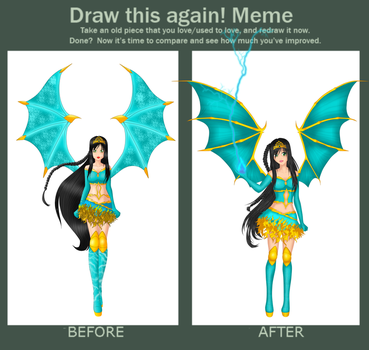 Meme  Dragonix Before And After by AshlyStorm