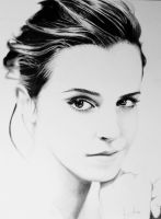 emma watson pencil drawing by Arvyfex