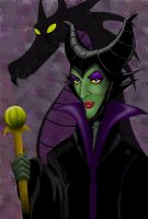 Maleficent by hayleykayarts