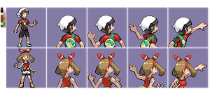 PUBLIC OrAs Protagonists Gba back front sprites by Solo993