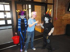 Eridan, Trickster John and Gamzee - Tigercon 2012 by WolvesOfComedy