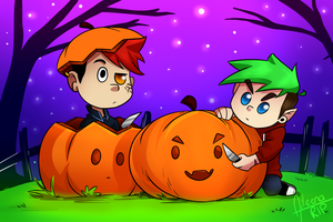 Carving Pumpkins! :D by xOtakuStarx