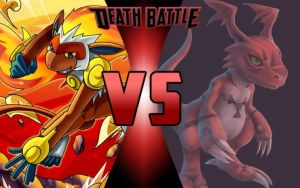 DEATH BATTLE: Infernape vs Guilmon by G-Odzilla