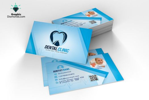 Dentist Business Card Template by GraphicDiamonds
