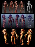 monster mutant zombie 3D model by Bawarner