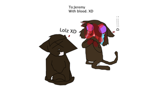 Jerome with his face slashed open by moggie by Textingpuppy4047