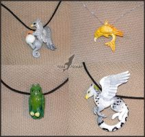 Fantasy animals - necklaces by AlviaAlcedo