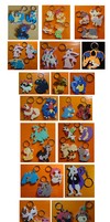 Keychain Commissions: 2013 by SoftMonKeychains
