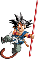 Dragon Ball - kid Goku 17 - Daizenshu 1 by superjmanplay2