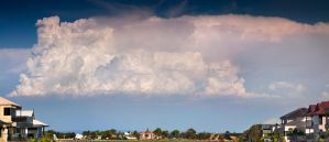 Impressive Cloud formation over Mandurah WA by RaynePhotography