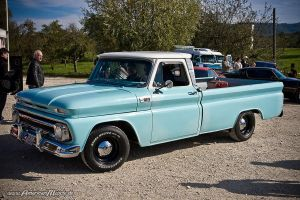 light-blue chevy truck by AmericanMuscle