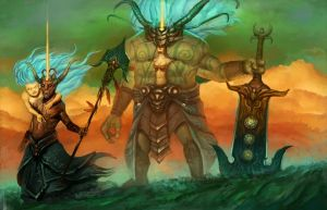 Guild Of Golems by willpheonix