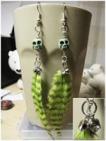 Voodoo feather - earrings by SaQe