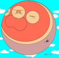Inflated Debbie floating by ZigZag123