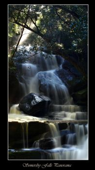 Somersby Falls Panorama by FireflyPhotosAust