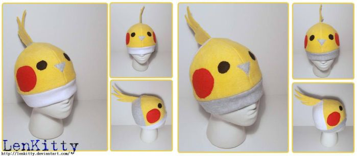 Cockatiel Hats V.1 and V.2 by LenKitty