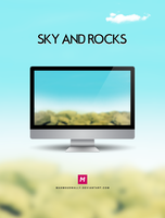 Sky&Rocks by Mahm0udWally